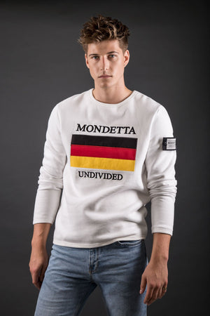 Homage Men's Classic Fit Sweater - Germany - White