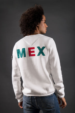 Homage Men's Classic Fit Sweater - Mexico - White