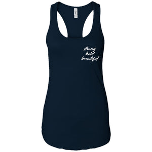 About Strength Racerback Tank