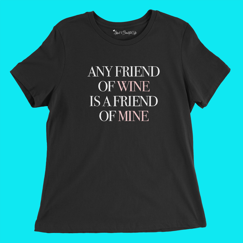 About Friends & Wine Tee