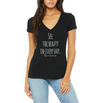 About Beauty V Neck Tee