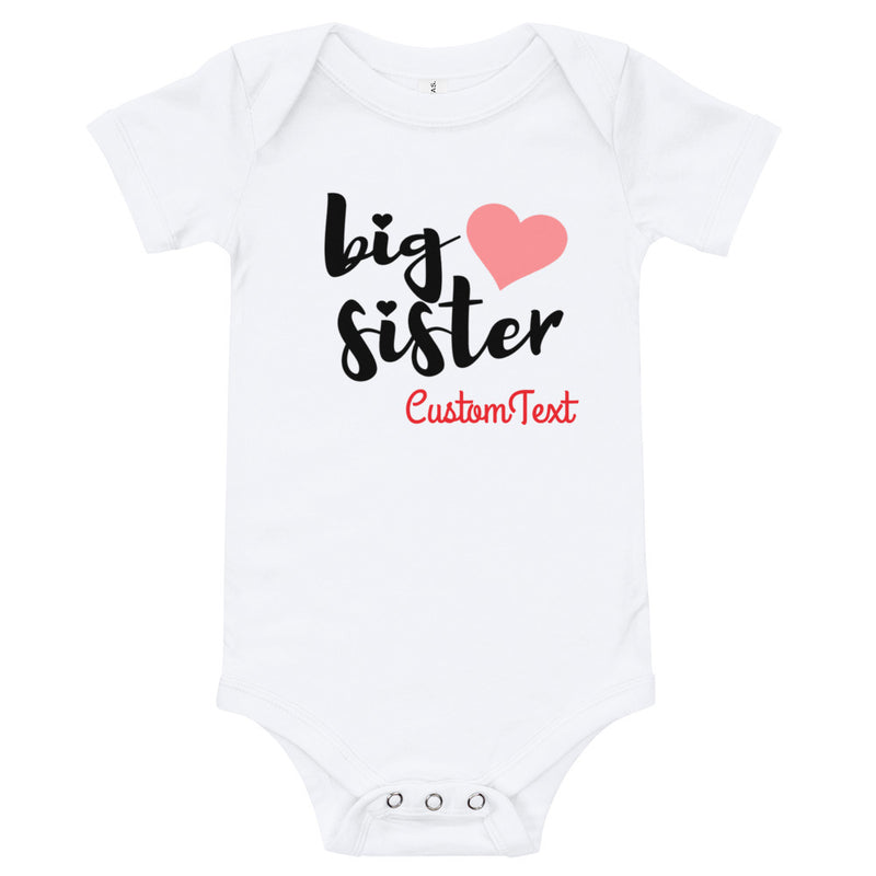 Personalized Big Sister Onesie