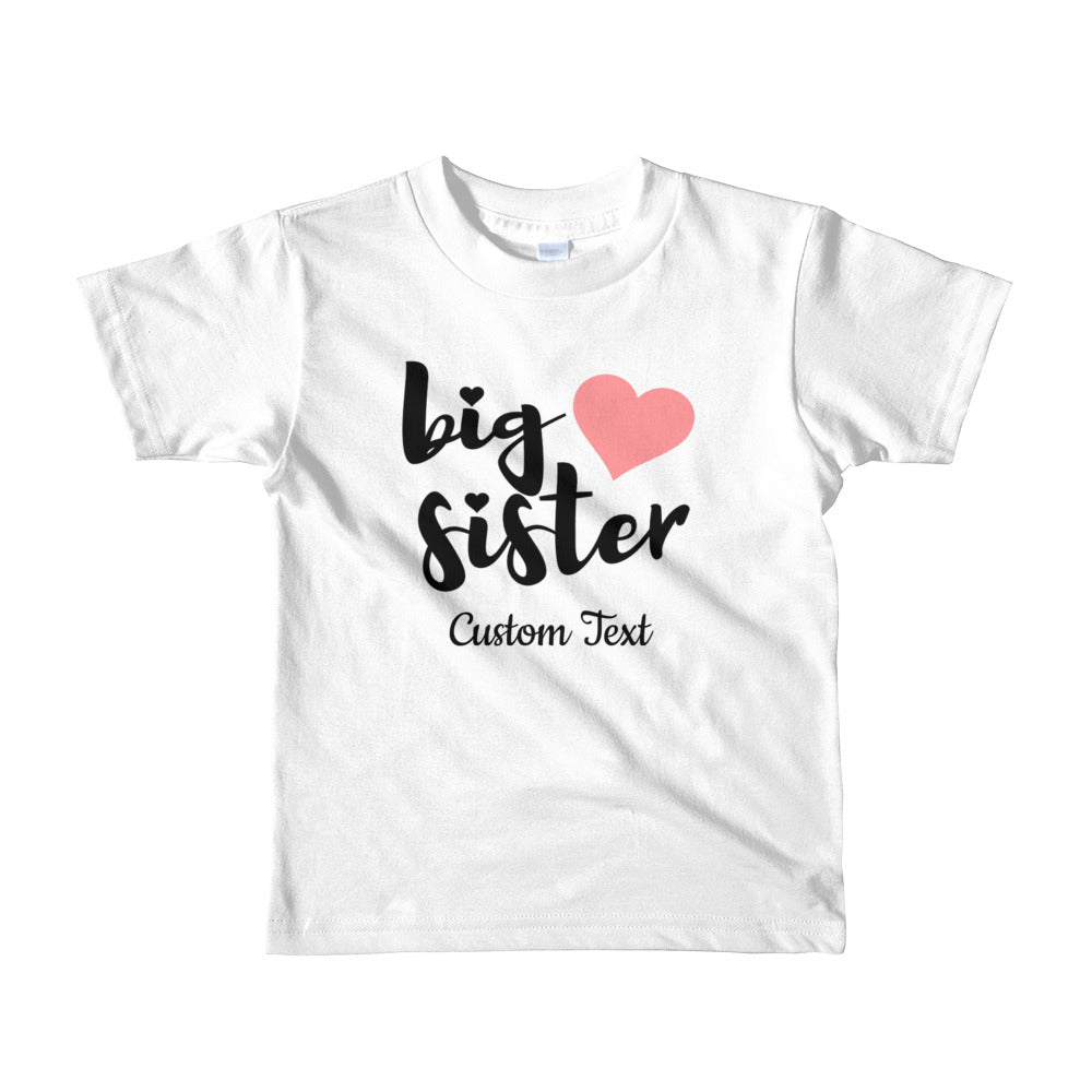 Personalized Big Sister Short sleeve kids t-shirt