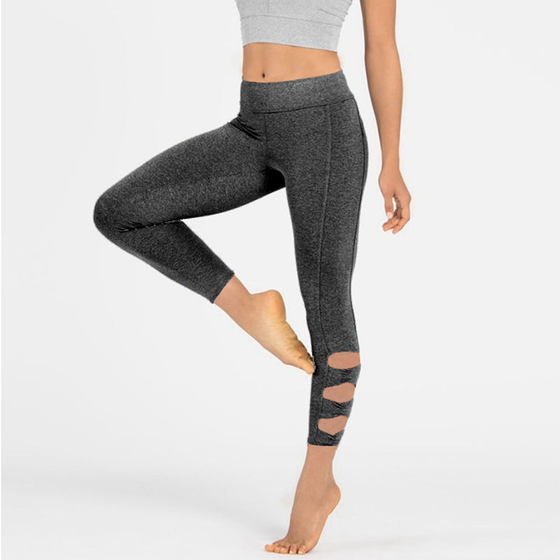 Cut out Capri Yoga Gym Legging Pant