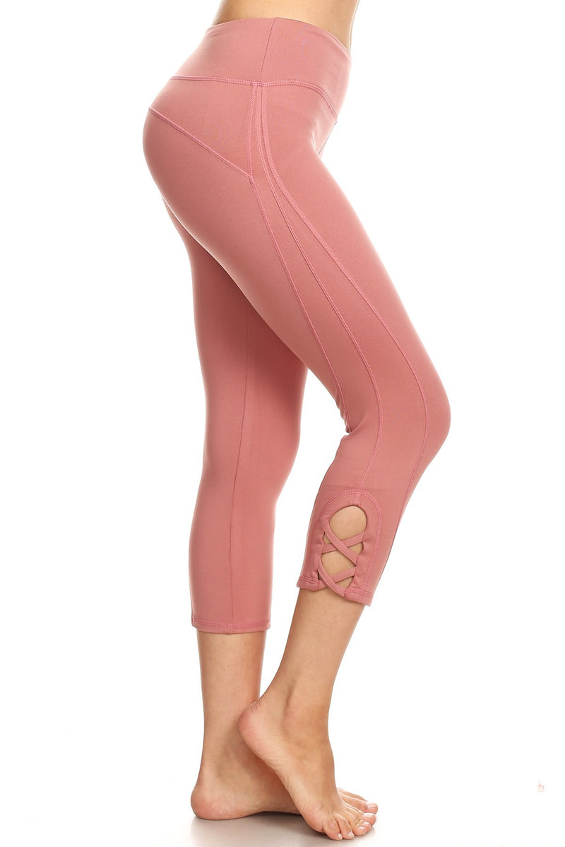Women Yoga 3/4 Capri with 4 Way Stretch