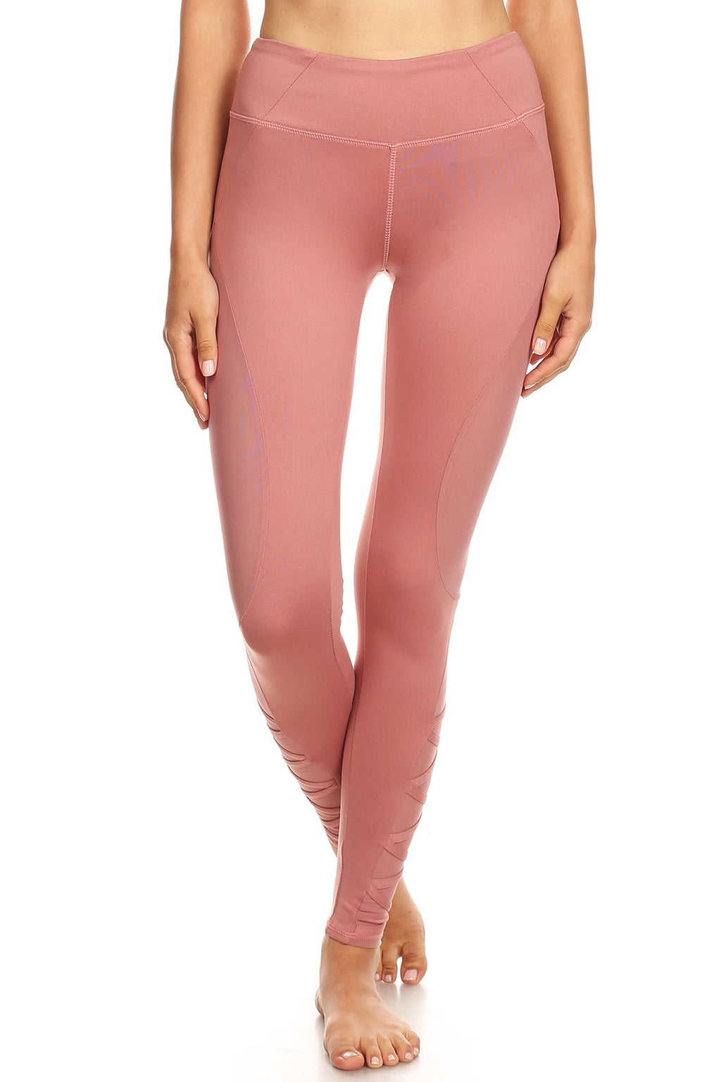 Dusty Rose YogaPant with Ballerina lace detail at bottom