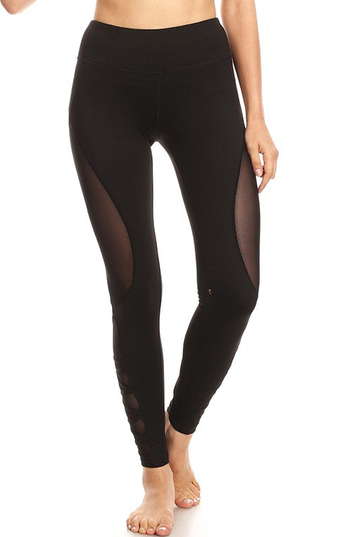 Black Yoga Legging with 4 Way Stretch