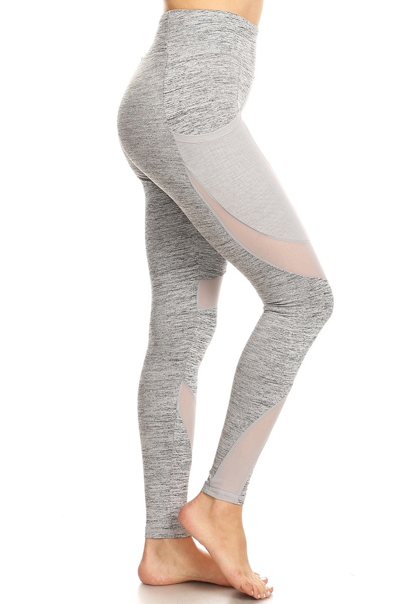 High Waist Yoga Pants with mesh Pockets