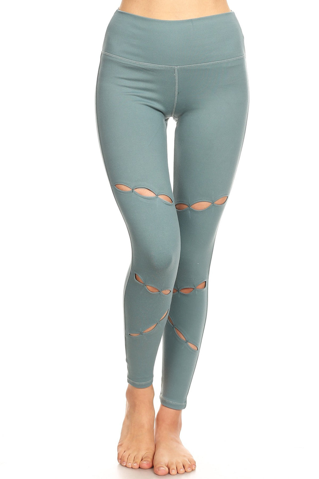 Women's ultra sea green soft cut out Legging
