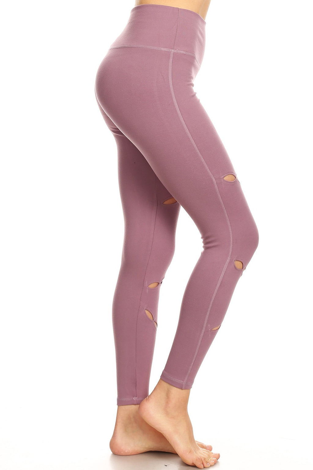 Women's Lavender Rose ultra soft cut out Legging