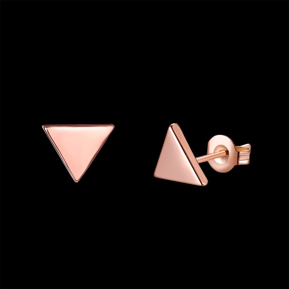 Triangle Rose Gold Earring