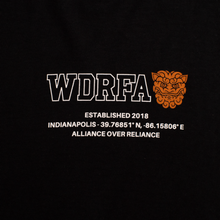 Load image into Gallery viewer, WDRFA x James Dant Longitude Tee - Black