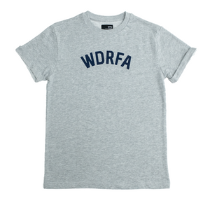 WDRFA ARCHED LOGO TEE - GREY