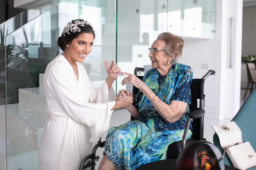Bride with her great grandmother