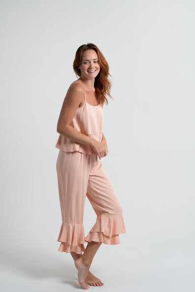 Double Ruffle Pant Set - Sunrise