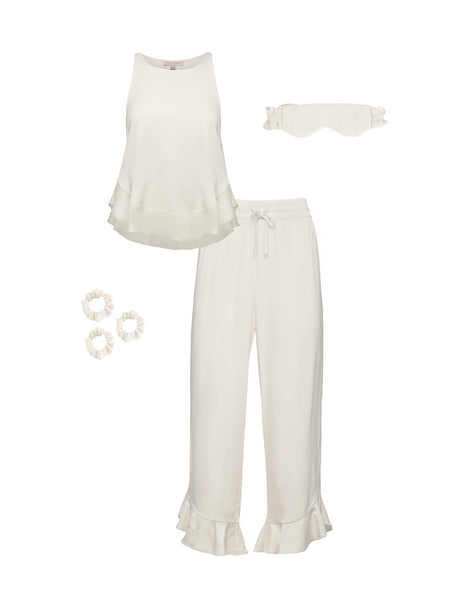 Ruffle Pant Set Bundle - Cloud