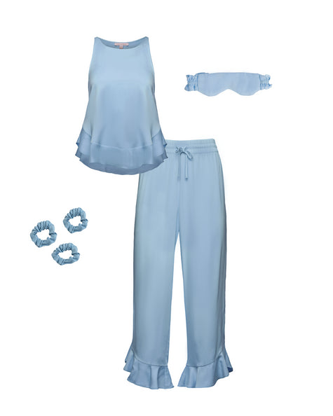 Ruffle Pant Set Bundle - Sky