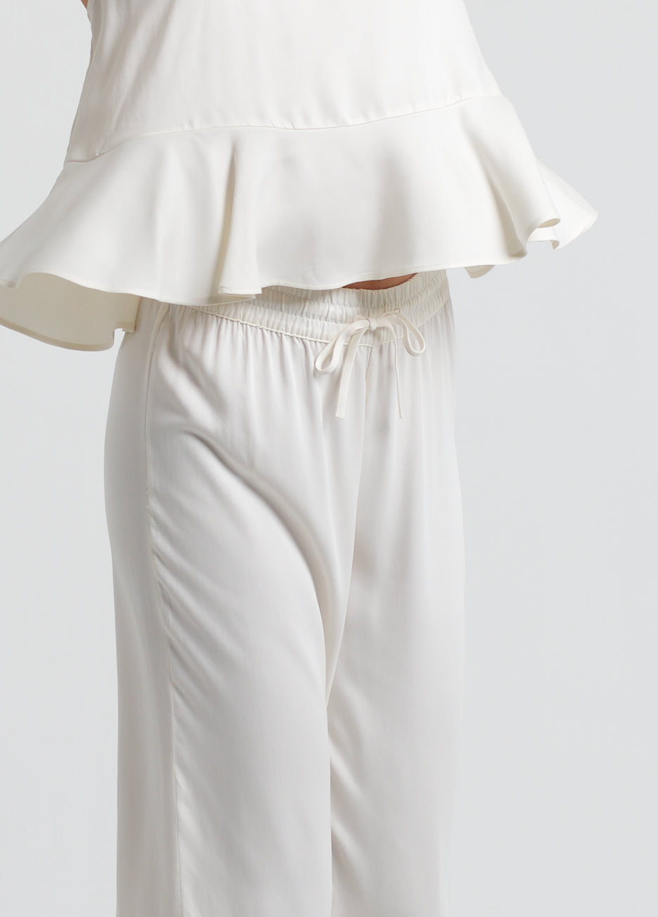 Double Ruffle Pant Set - Cloud