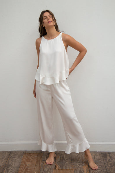 Ruffle Pant Set - Cloud