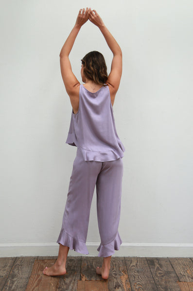 Ruffle Pant Set - Dusty Lavender