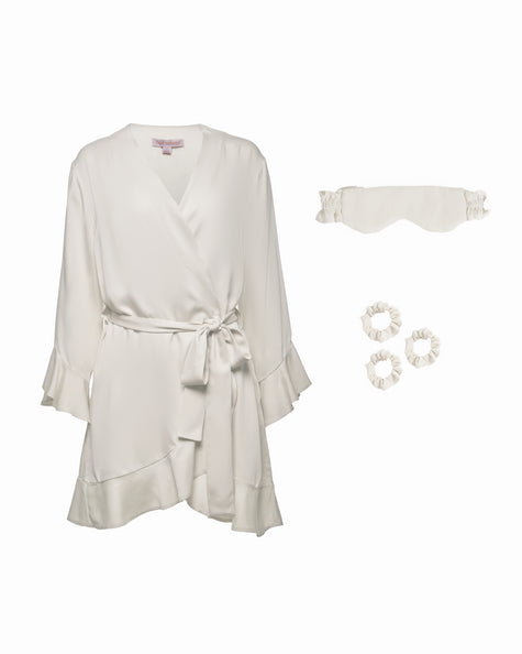 Ruffle Robe Bundle - Cloud