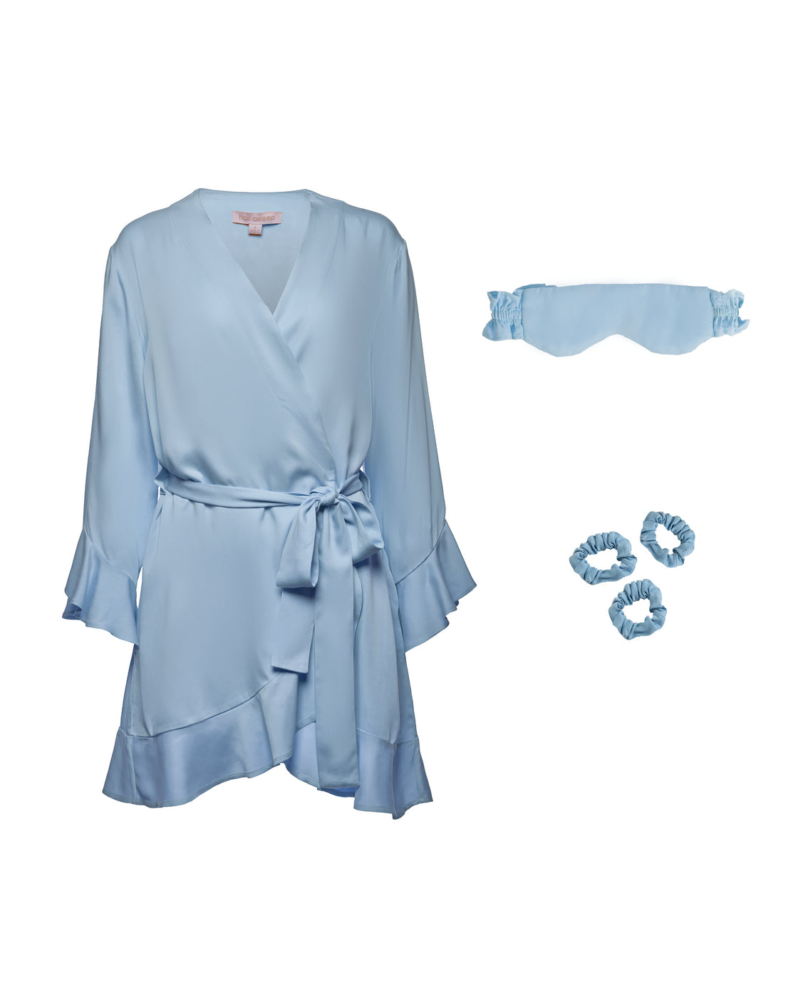 Ruffle Robe Bundle - Sky