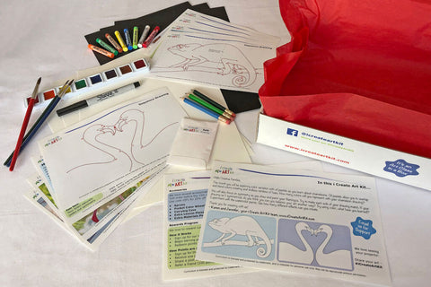 Art Party In A Box. Art subscription box for kids.