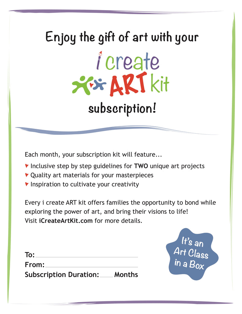 Monthly Art Box Subscription Kit for Kids