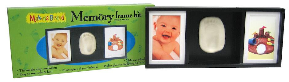 Makins Memory Frame® Triple Frame Frames i Create Art Kit Triple Face Child Black Wood