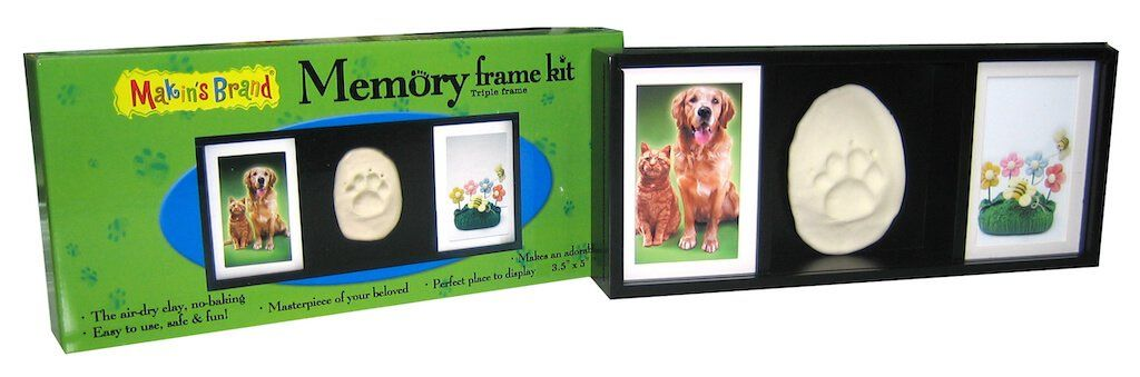 Makins Memory Frame® Triple Frame Frames i Create Art Kit Triple Face Pet Black Wood