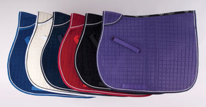 VELVET SADDLEPAD EMBROIDERED - EQUESTRIAN