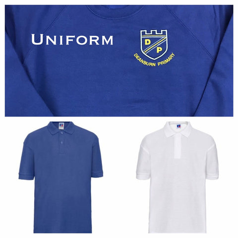 DEANBURN PRIMARY POLO SHIRT IN WHITE