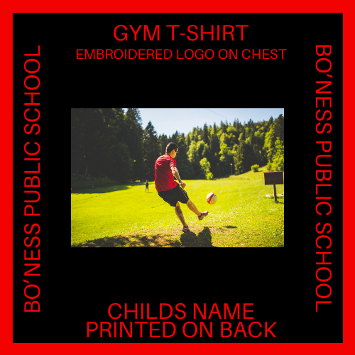 GYM T-SHIRT EMBROIDERED