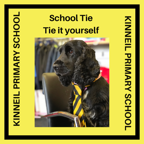 KINNEIL PRIMARY SCHOOL TIE - TIE IT YOURSELF