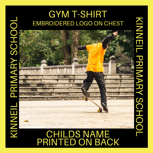 GYM T-SHIRT KINNEIL EMBROIDERED LOGO