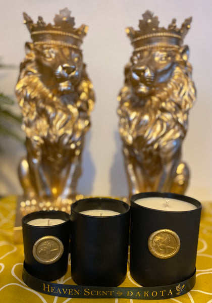 OPULENT AROMA CANDLE IN MATT BLACK CANDLE JAR