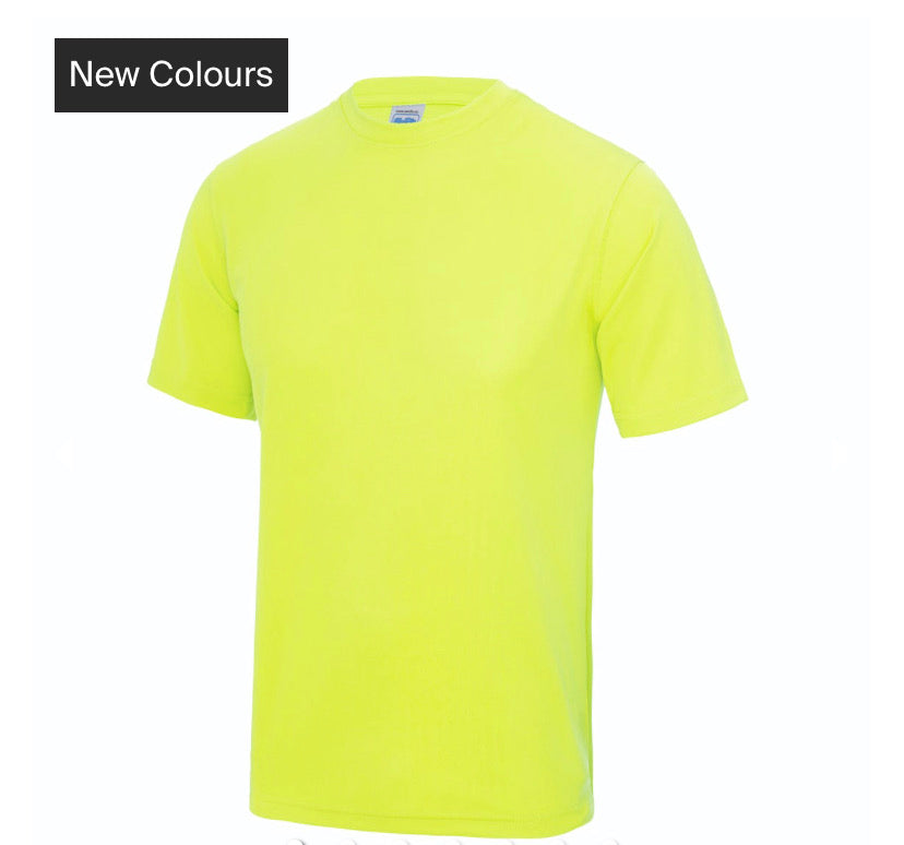 NEON YELLOW SPORTY T-SHIRT - SMILE YOU'RE ON CAMERA