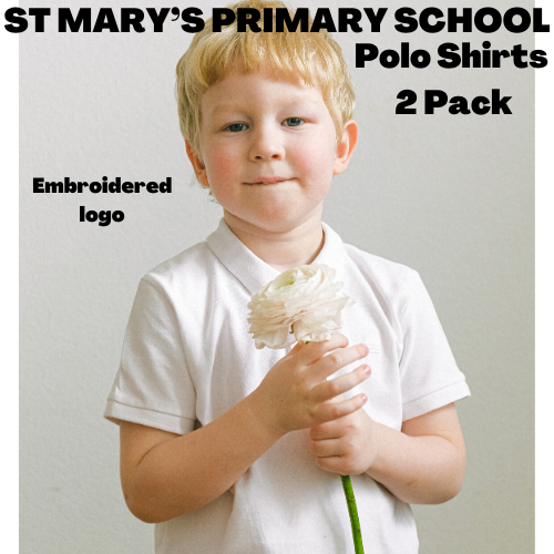 ST MARY'S PRIMARY SCHOOL POLO SHIRTS 2 PACK