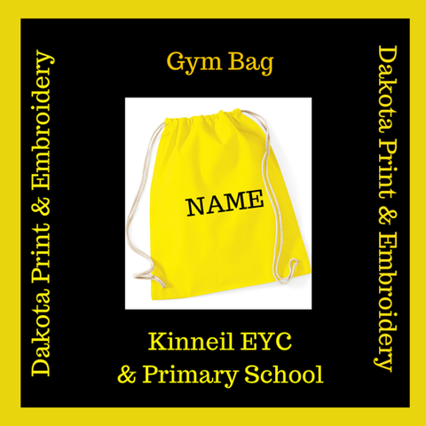 Kinneil Primary & EYC Gym Bags personalised