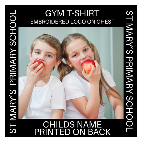 ST MARY'S GYM T-SHIRT EMBROIDERED