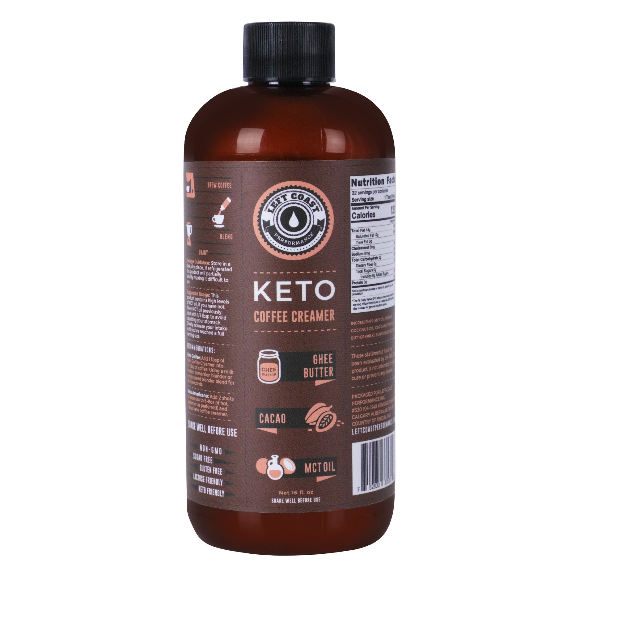 Keto Coffee Creamer with MCT Oil - 16 fl oz