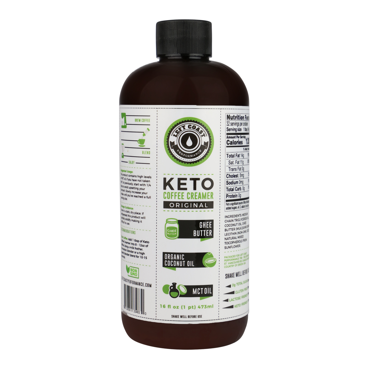 Keto Coffee Creamer with MCT Oil - 16 fl oz - Left Coast ...