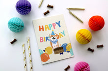 Load image into Gallery viewer, Shiba Inu Happy Birthday Card by Hux Loves Honey