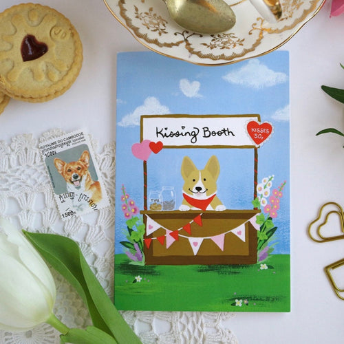 Corgi Kisses Card by Hux Loves Honey