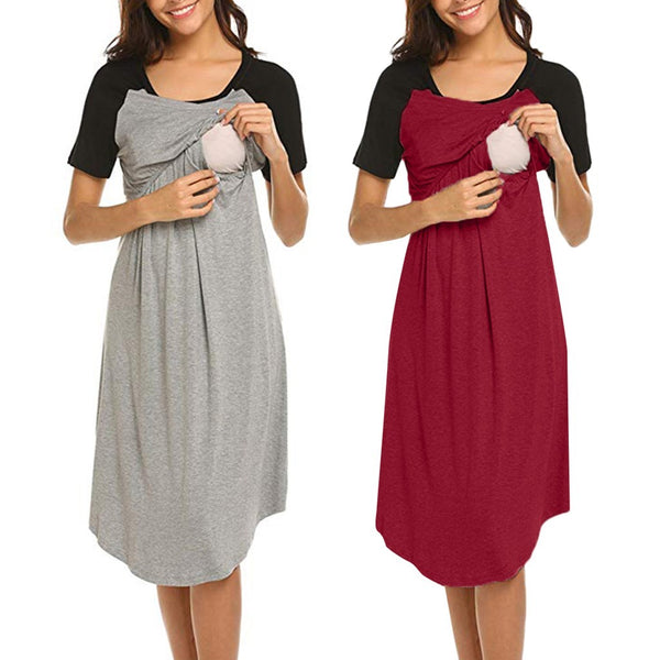 51bdde2d95 Women s Maternity Dress Nursing Nightgown Breastfeeding – maternity ...