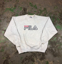 Load image into Gallery viewer, Embroidered fila Crewneck