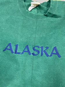 Heavy weight embroidered Alaska crewneck