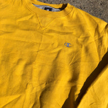 Load image into Gallery viewer, Yellow champion Crewneck