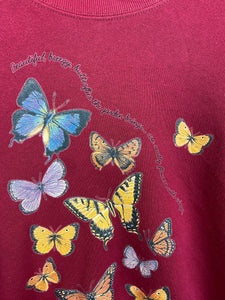 Vintage butterfly crewneck