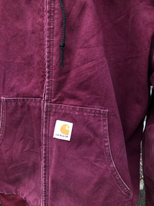 Burgundy Carhartt Jacket